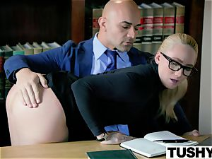 TUSHY bootylicious AJ Applegate punished By Her chief