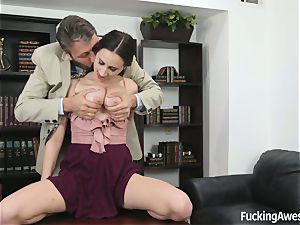 big-boobed Ashley Adams Gets porked by the professor
