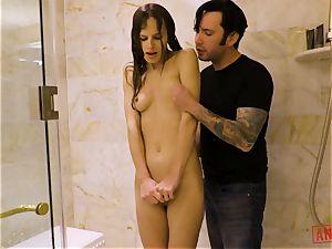 JIllian Janson rectal rammed in the shower