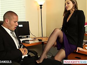 Office babe Dani Daniels take wood