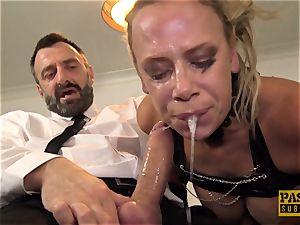 super-naughty mummy Sasha Steele deepthroated and pulverized hard in butt