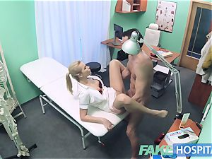 faux medical center Hired handyman spunks all over nurses bum