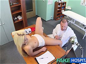 FakeHospital doctor helps blond get a moist gash