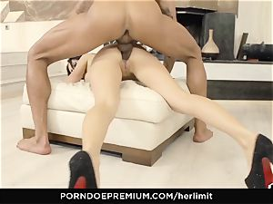 HER restrain huge cupcakes honey takes fat man meat in gaped ass