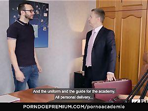 porno ACADEMIE Lana Rhoades luvs plumbing French lollipop