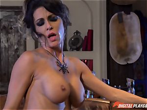 Halloween off the hook with super-sexy Jessica Jaymes licking her prize