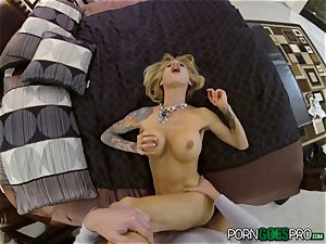 ache or delight for ultra-kinky blondie honey Sarah Jessie pulverized in her mind-blowing muff pov style