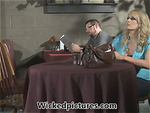 call girl Andy San Dimas puts a guy to the test