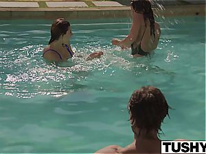 TUSHY first assfuck For finest friends Keisha Grey and Leah Gotti