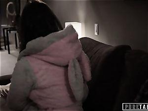 unspoiled TABOO 18yo Ashley Sins Against mummy to satiate dad