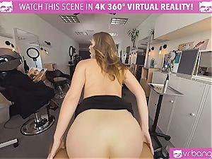 VRBangers.com Hairdresser Ella plowed firm and facial