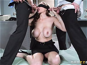 super-sexy chief Julia Ann gets a double creaming