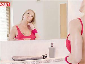 LETSDOEIT -Curios sonnie pulverizes mommy and Her Yoga schoolteacher
