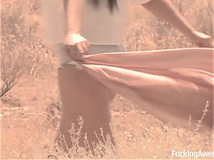 Gabriella Paltrova drills in the Desert