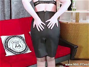 torrid stunner peels off ebony lingerie wanks in nylon garter