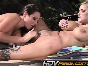 HDVPass Amy and Shyla gobble each others vulvas