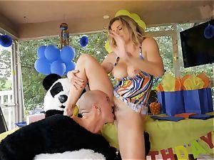 draped guy in panda costume penetrates milf Cory haunt