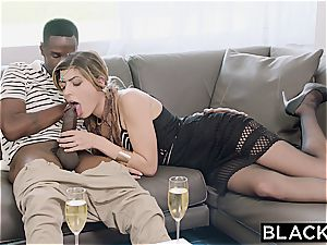Arab nymph Audrey Charlize loves the taste of a bbc