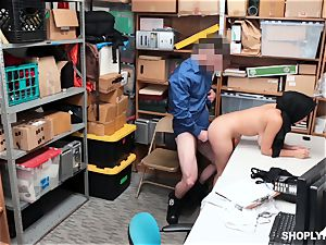 Ella Knox gets caught shoplifting and pays her debt with her mouth and coochie
