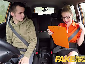 fake Driving school examination failure leads to warm intercourse