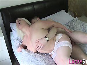 grannie penetrates rock-hard with large hefty knob