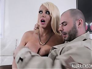 insatiable cougar Alura Jenson avoids the porno screenplay