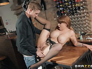 Danny stuffing his yam-sized manmeat into sizzling ginger-haired