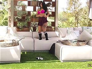 tiny mounds insatiable schoolgirl gets pummeled after lessons