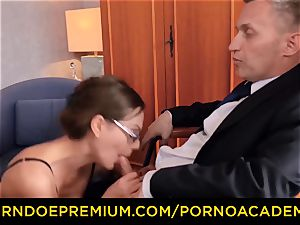 porno ACADEMIE - super-sexy lecturer double penetration and super-naughty anal fuck