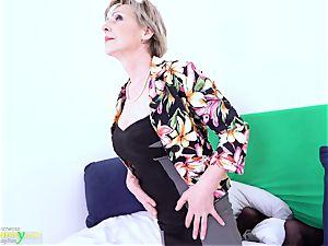 OldNannY Lusty grandma Milena Solo playing Showoff