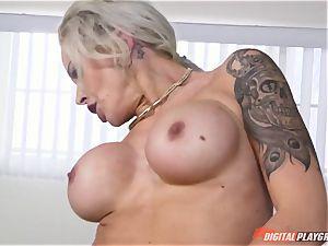 warm butt light-haired Nina Elle stuffed in her minge