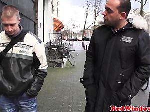Amsterdam call girl gets cumshowered