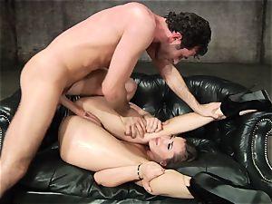 Dani Daniels gets her super-steamy cunt filled with rock hard manhood
