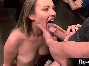 sizzling wife Daisy Layne tears up and eats jism