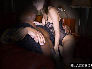 BLACKEDRAW wifey loves his humungous dark-hued manstick a tiny too much