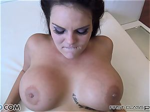 Mackenzee Pierce gargling off giant trouser snake and cunny drilled