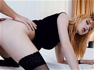 uber-sexy redhead Anny Aurora has her muff satiated
