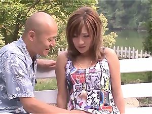 Premium outdoor Japan pound with big-titted Aika
