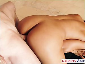 huge-chested dark-haired Luna starlet gets giant booty jizzed