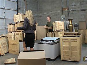 Morgan Ray humps in a warehouse
