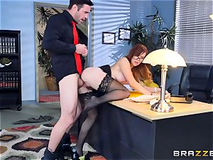 Dani Jensen frolicking with cock in the office