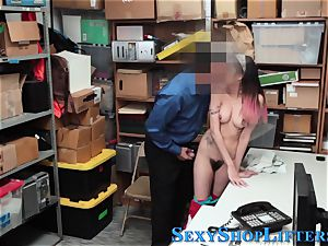 Real latina thief nutted