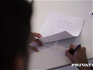 Private.com secretary Barbara Bieber humps her manager