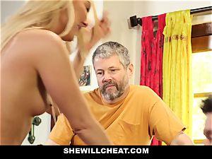 SheWillCheat - Step mother Cheats on Traveling husband