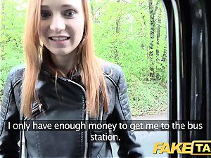 fake cab slender ginger-haired luvs tough romp