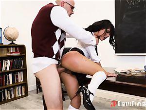schoolteacher tucks his big shaft into schoolgirl Gina Valentina