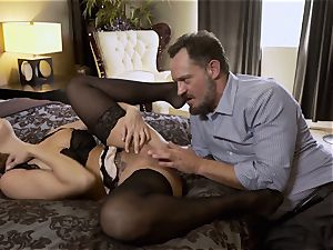 Nylons Sn five Britney Amber wears uber-sexy pantyhose as she plows