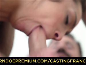audition FRANCAIS - amateur sweetheart torn up and spunk facialed