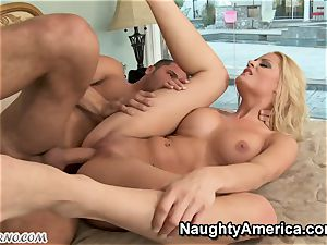 ash-blonde superslut gets plumbed by her mother's mate