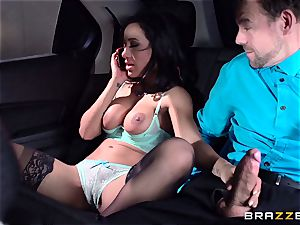 Amia Miley acts out her phone sex with her successful counterpart